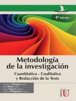 Metodología de la investigación cuantitativa - cualitativa y redacción de la tesis: 4a. Edición