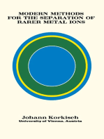 Modern Methods for the Separation of Rarer Metal Ions