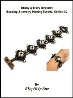 Ebony & Ivory Bracelet Beading & Jewelry Making Tutorial Series I52