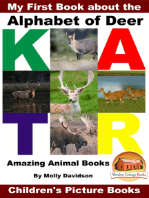 My First Book about the Alphabet of Deer: Amazing Animal Books - Children's Picture Books