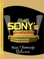 For Sony's Transformation