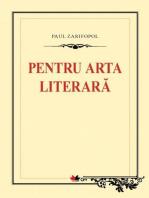 Pentru arta literara