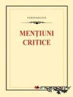 Mențiuni critice