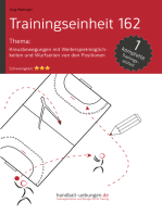 Kreuzbewegung mit Weiterspielmöglichkeiten und Wurfserien von den Positionen (TE 162)