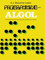 Programming—ALGOL
