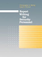 Report Writing for Security Personnel