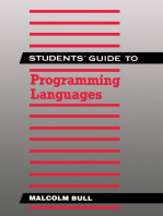 Students' Guide to Programming Languages