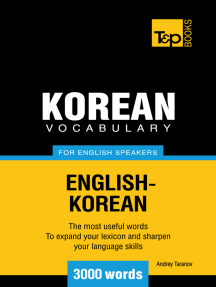 Korean vocabulary for English speakers: 3000 words