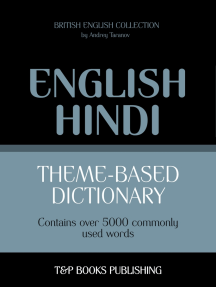 Theme-based dictionary British English-Hindi: 5000 words