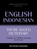 Theme-based dictionary British English-Indonesian: 9000 words
