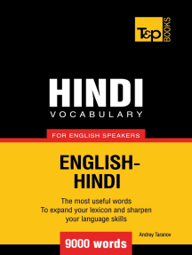 Hindi Vocabulary for English Speakers: 9000 Words