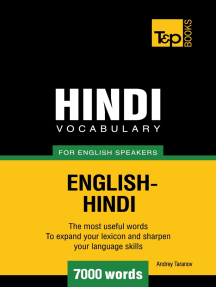 Hindi vocabulary for English speakers: 7000 words