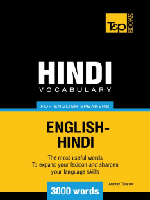 Hindi Vocabulary for English Speakers: 3000 Words