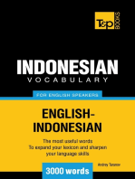 Indonesian vocabulary for English speakers: 3000 words