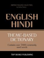 Theme-based dictionary British English-Hindi