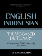 Theme-based dictionary British English-Indonesian: 5000 words
