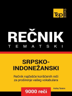 Srpsko-Indonežanski tematski rečnik: 9000 korisnih reči