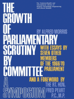 The Growth of Parliamentary Scrutiny by Committee