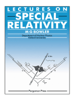 Lectures on Special Relativity
