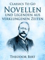 Novellen und Legenden aus verklungenen Zeiten
