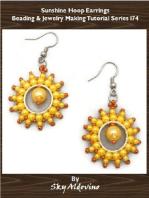 Sunshine Hoop Earrings Beading & Jewelry Making Tutorial Series I74