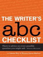 The Writer's ABC Checklist