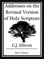 Addresses on the Revised Version of Holy Scripture