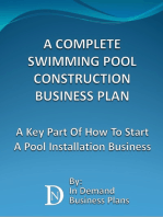 A Complete Swimming Pool Construction Business Plan