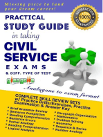 Practical Study Guide in Taking Civil Service Exam and Different Type of Test