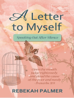 A Letter To Myself: Speaking Out After Silence