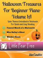 Halloween Treasures for Beginner Piano - Volume 1 A