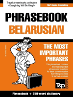 English-Belarusian phrasebook and 250-word mini dictionary