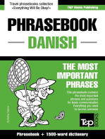 English-Danish phrasebook and 1500-word dictionary