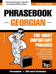 Phrasebook Georgian: The Most Important Phrases - Phrasebook + 250-Word Dictionary