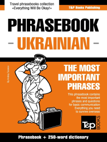 Phrasebook Ukrainian: The Most Important Phrases - Phrasebook + 250-Word Dictionary