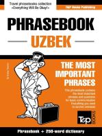 English-Uzbek phrasebook and 250-word mini dictionary