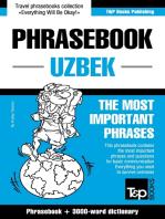 English-Uzbek phrasebook and 3000-word topical vocabulary