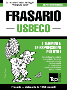 Frasario Italiano-Usbeco e dizionario ridotto da 1500 vocaboli