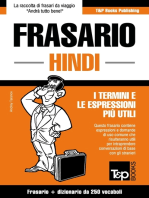 Frasario Italiano-Hindi e mini dizionario da 250 vocaboli