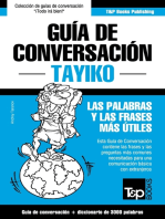 Guía de Conversación Español-Tayiko y vocabulario temático de 3000 palabras