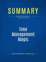 Time Management Magic (Review and Analysis of Cockerell's Book)