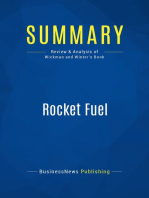 Rocket Fuel (Review and Analysis of Wickman and Winter's Book)