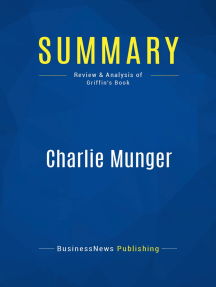 Charlie Munger (Review and Analysis of Griffin's Book)