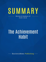 The Achievement Habit (Review and Analysis of Roth's Book)