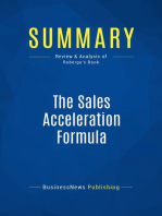 The Sales Acceleration Formula (Review and Analysis of Roberge's Book)