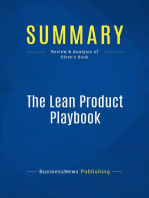 The Lean Product Playbook (Review and Analysis of Olsen's Book)