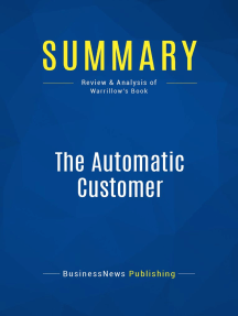 The Automatic Customer (Review and Analysis of Warrillow's Book)