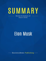 Elon Musk (Review and Analysis of Vance's Book)