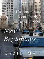 Comments on John Deely's Book (1994) New Beginnings
