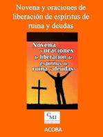 Novena y oraciones de liberación de espíritus de ruina y deudas